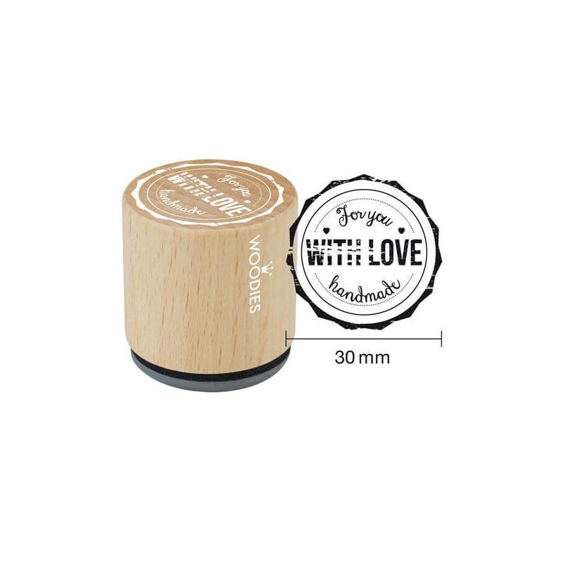 Pecsételő, Woodies, 3 cm - For you with love