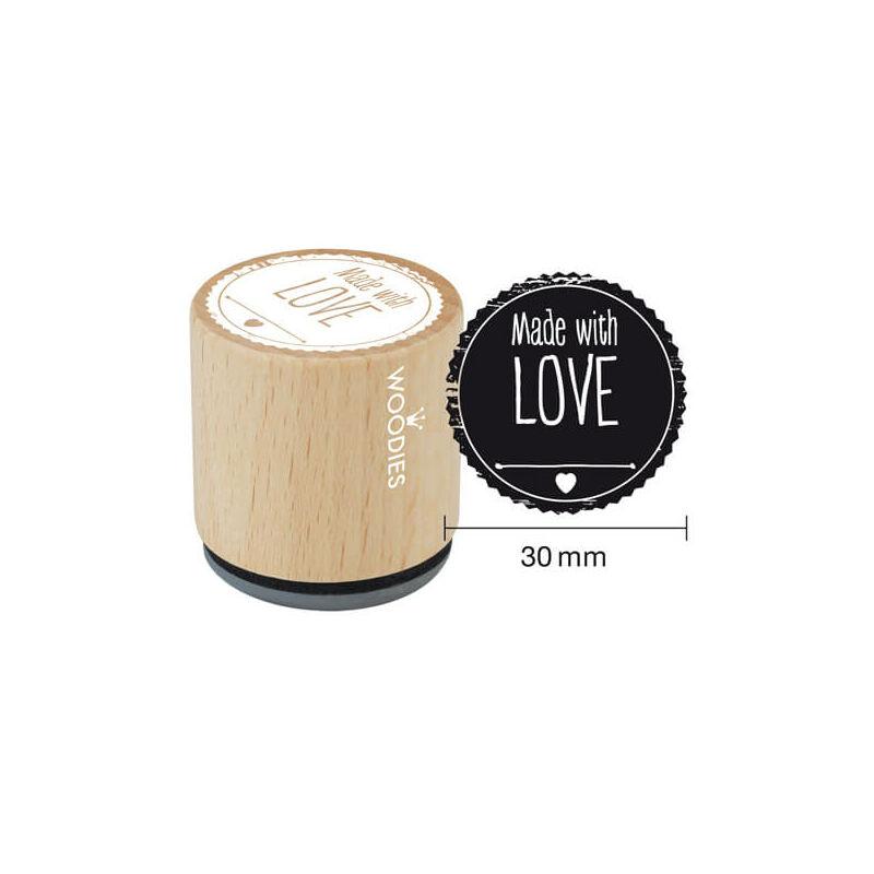 Pecsételő, Woodies, 3 cm - Made with love