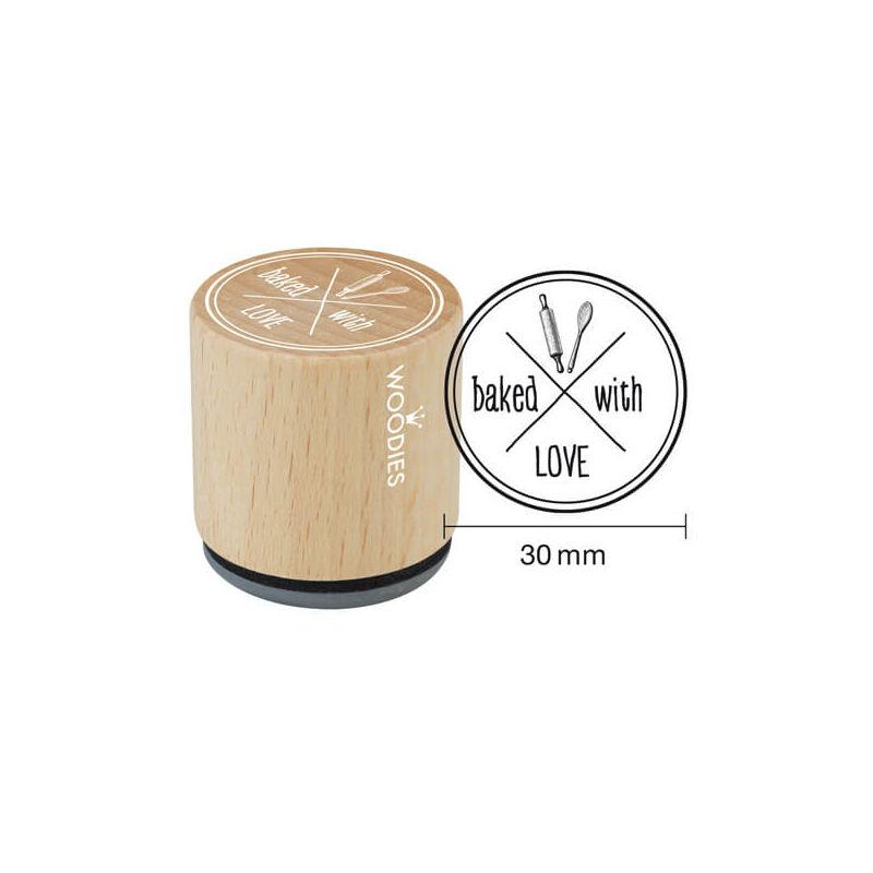 Pecsételő, Woodies, 3 cm - Baked wit love