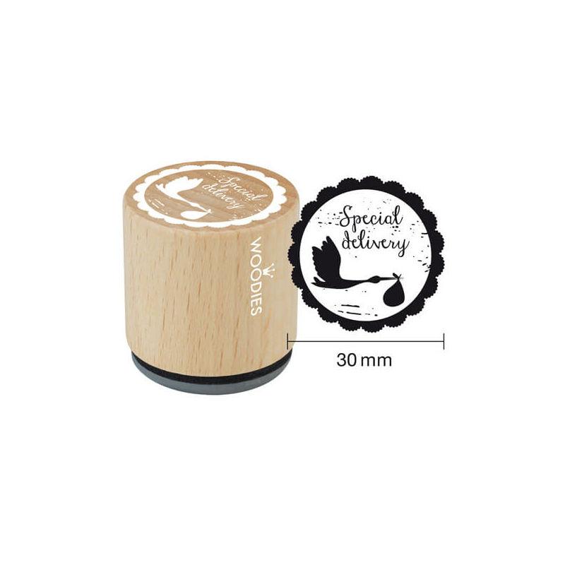 Pecsételő, Woodies, 3 cm - Special delivery