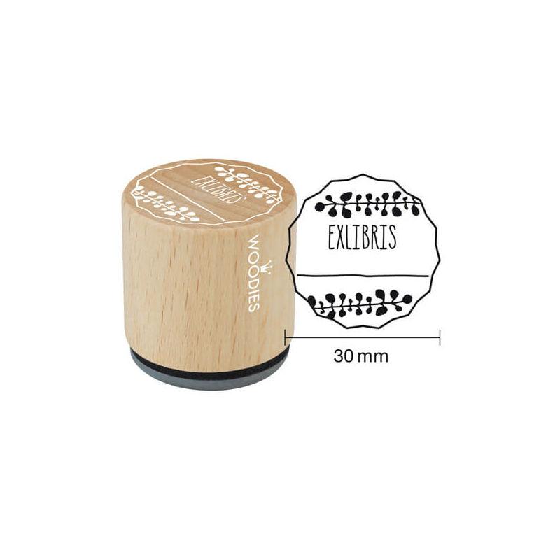 Pecsételő, Woodies, 3 cm - EXLIBRIS