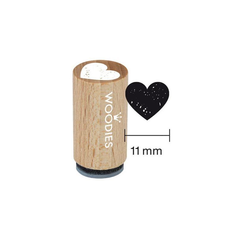 Pecsételő, Woodies, 1,3 cm - Szív