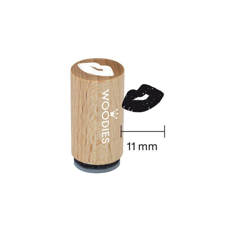 Pecsételő, Woodies, 1,3 cm - Csókos száj