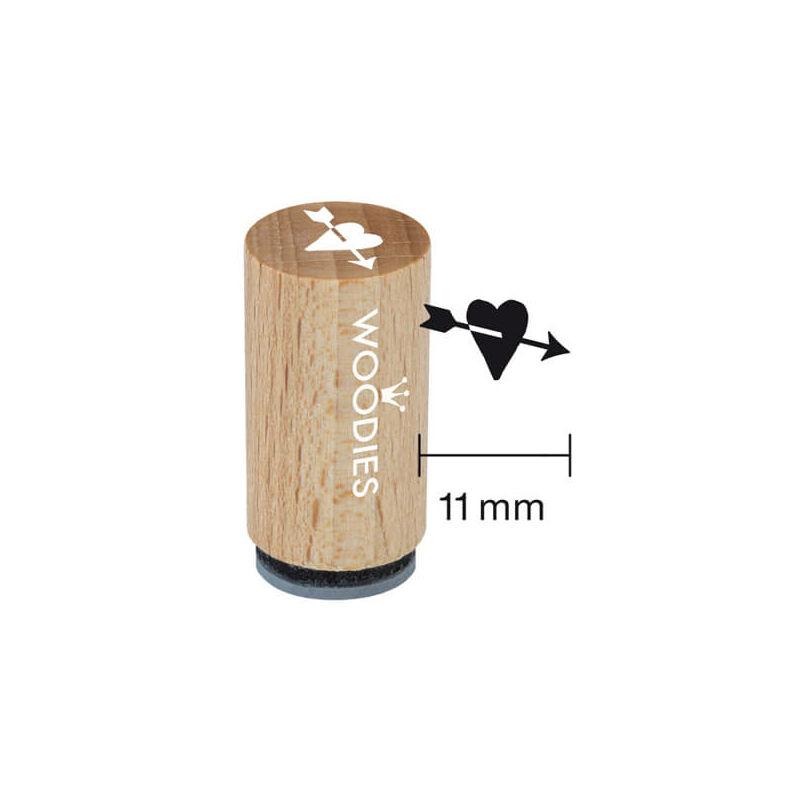 Pecsételő, Woodies, 1,3 cm - Szív nyíllal