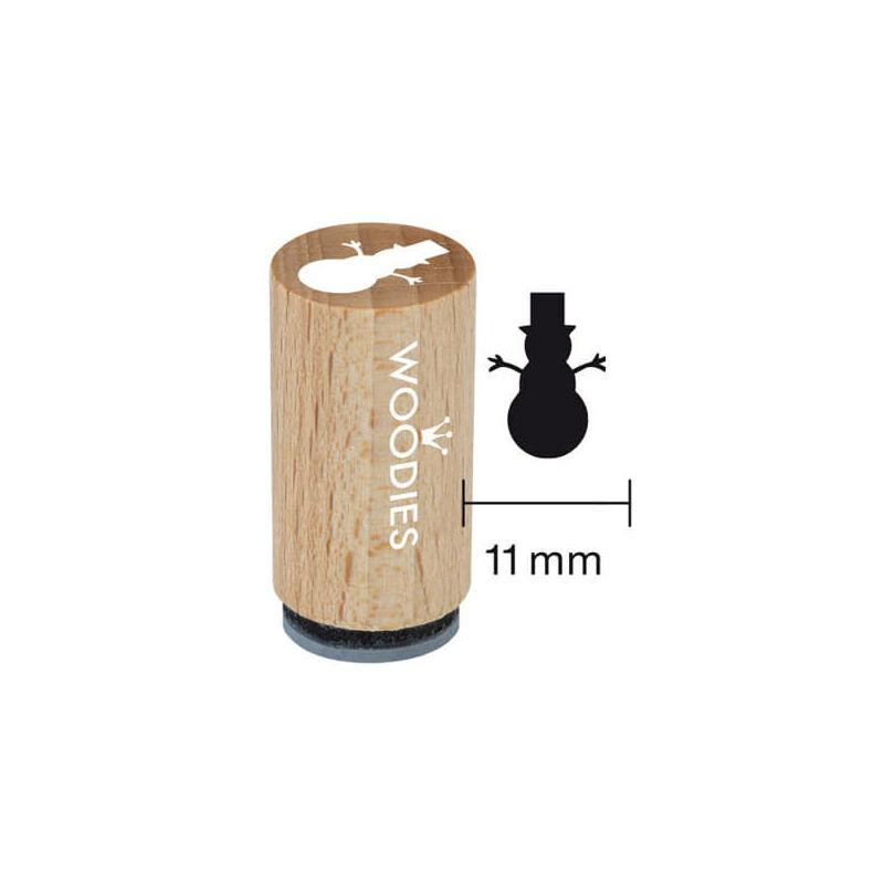 Pecsételő, Woodies, 1,3 cm - Hóember