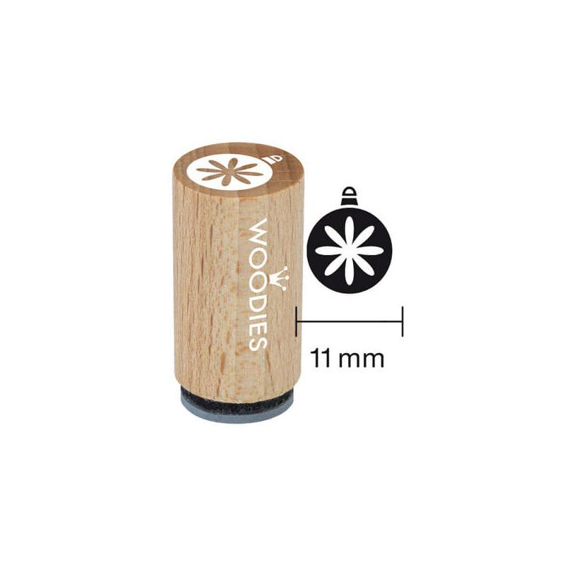 Pecsételő, Woodies, 1,3 cm - Karácsonyfagömb