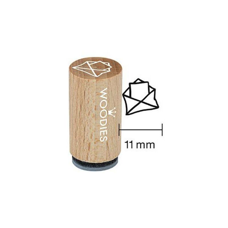 Pecsételő, Woodies, 1,3 cm - Boríték üzenettel