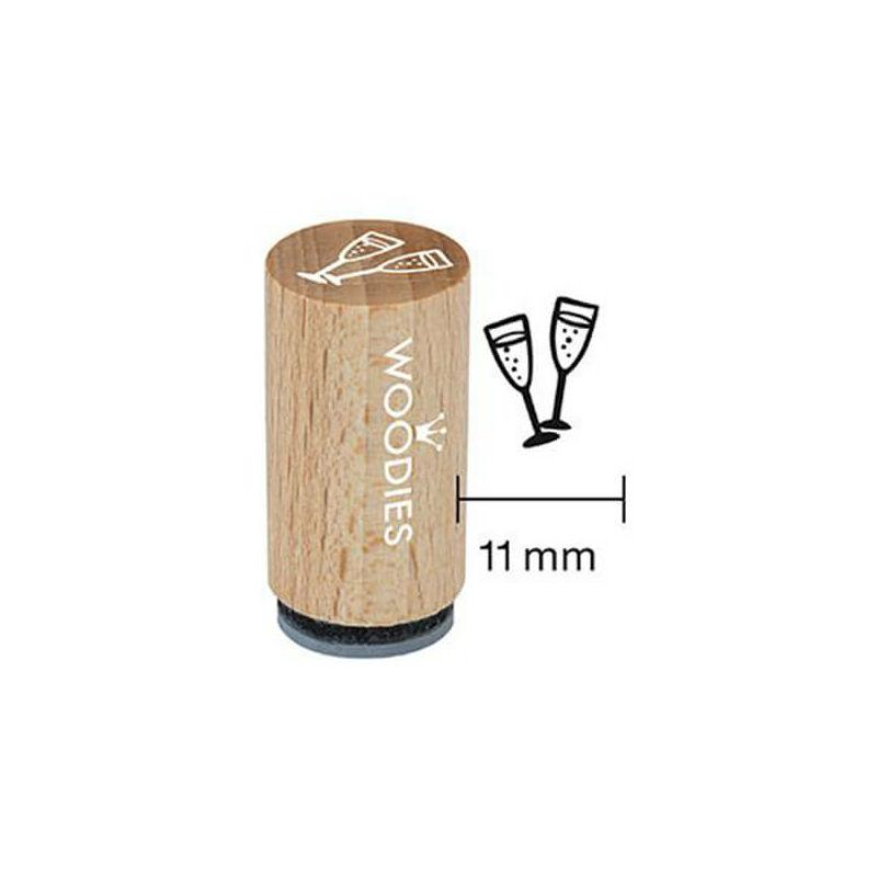 Pecsételő, Woodies, 1,3 cm - Pezsgőspoharak