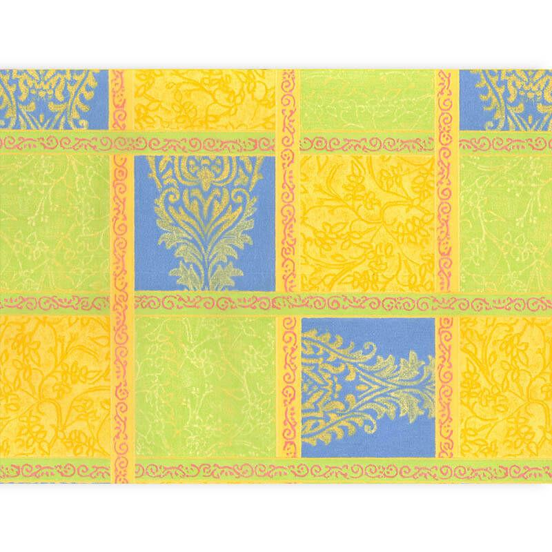 Décopatch papír - patchwork sárga-zöld