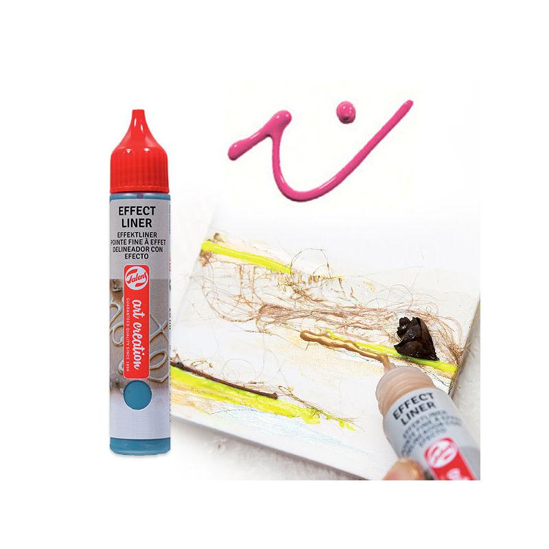 Art Creation Effect Liner, univerzális 3D festéktoll, 28 ml - 3501 Bold pink
