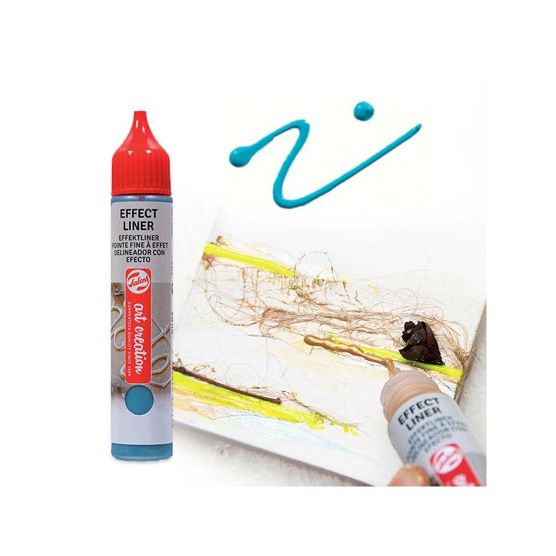 Art Creation Effect Liner, univerzális 3D festéktoll, 28 ml - 5024 Turquoise blue