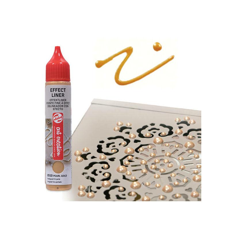 Art Creation Effect Liner, univerzális 3D festéktoll, 28 ml - 8502 Pearl yellow