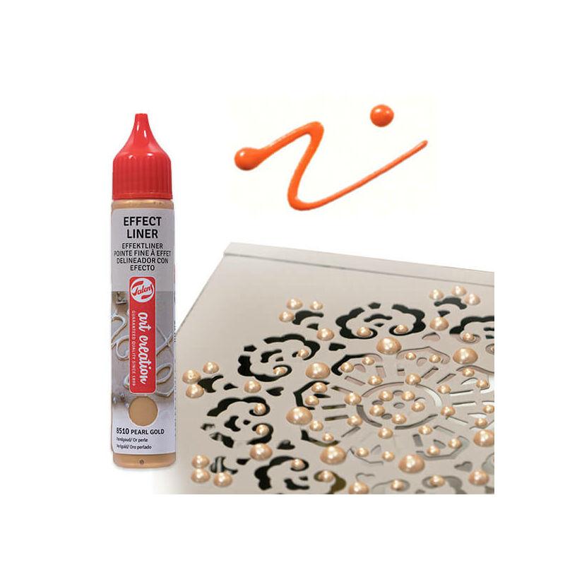Art Creation Effect Liner, univerzális 3D festéktoll, 28 ml - 8504 Pearl orange