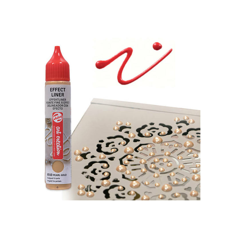 Art Creation Effect Liner, univerzális 3D festéktoll, 28 ml - 8505 Pearl red