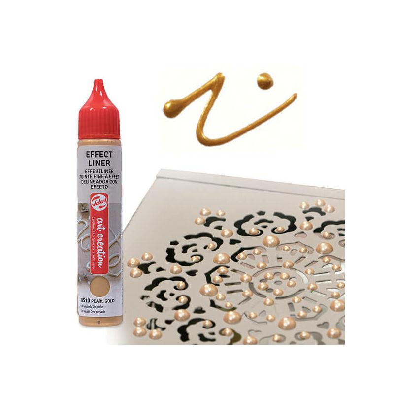 Art Creation Effect Liner, univerzális 3D festéktoll, 28 ml - 8510 Pearl gold