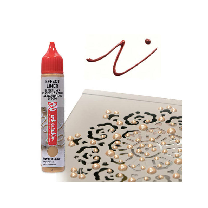 Art Creation Effect Liner, univerzális 3D festéktoll, 28 ml - 8512 Pearl copper