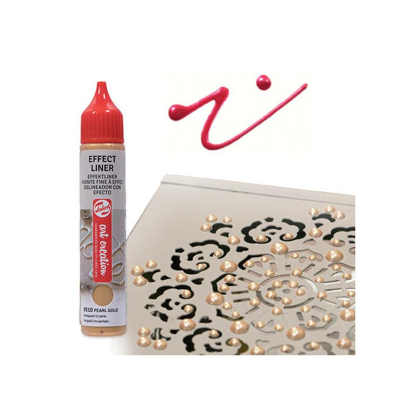 Art Creation Effect Liner, univerzális 3D festéktoll, 28 ml - 8516 Pearl fuchsia