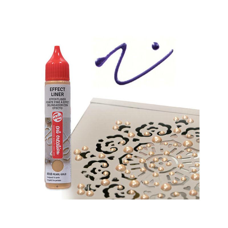 Art Creation Effect Liner, univerzális 3D festéktoll, 28 ml - 8517 Pearl purple