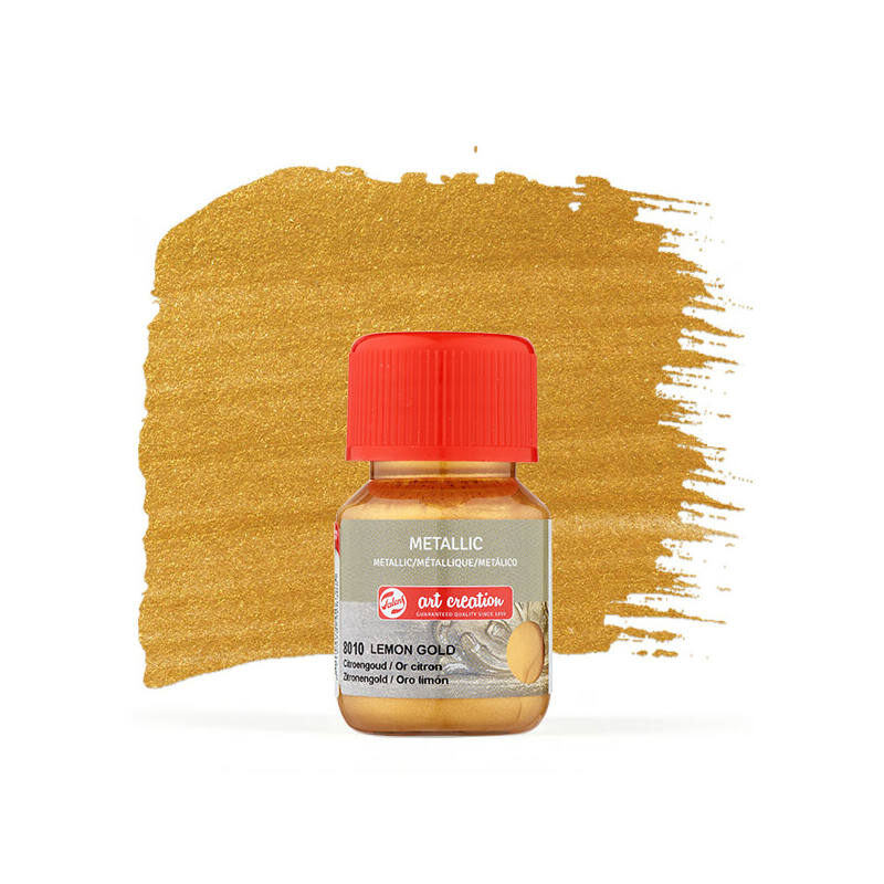 Art Creation Metallic akrilfesték 30 ml - 8010 aranysárga Lemon gold