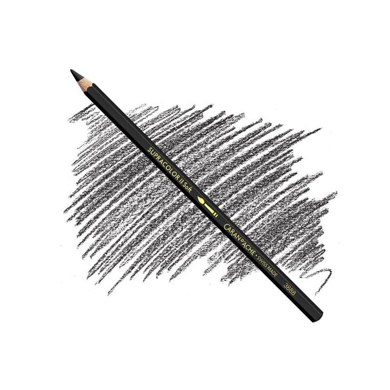 Caran d'Ache Supracolor Soft akvarellceruza - 009, black