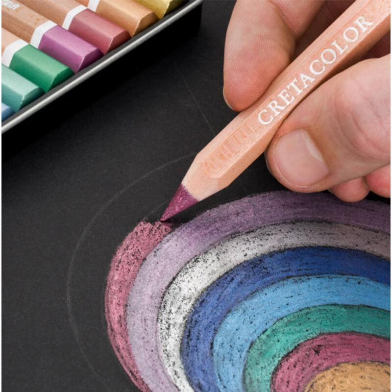 Cretacolor MegaColor The Brilliants színesceruza készlet - 12 db, metál színek