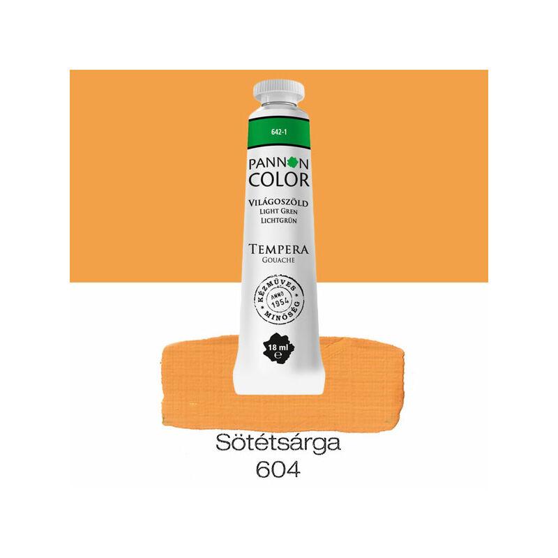 Pannoncolor gouache tempera, 18 ml, 604 - sötétsárga