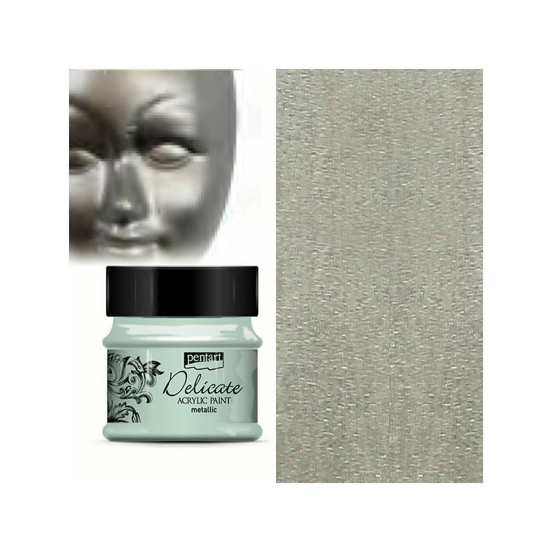 Delicate metál akrilfesték, 50 ml - antikezüst