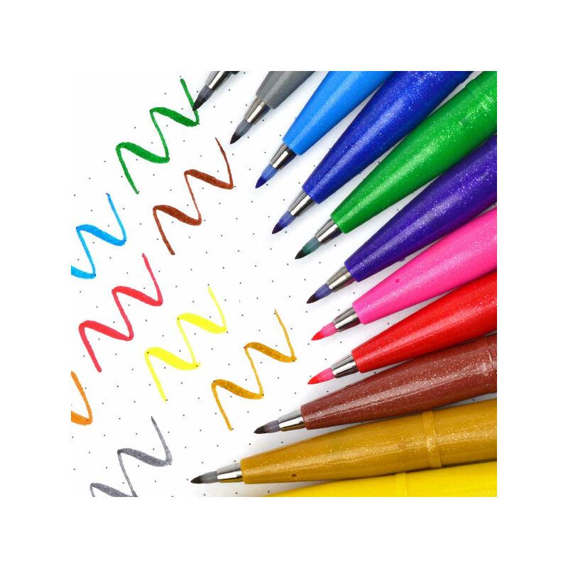 Pentel Brush Sign Pen ecsetfilc, SES15C-P2X, mályvapink
