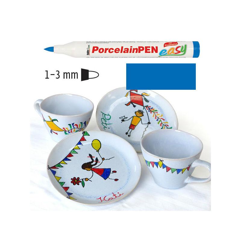 Porcelánfilc, HobbyLine Easy - sötétkék, 16313