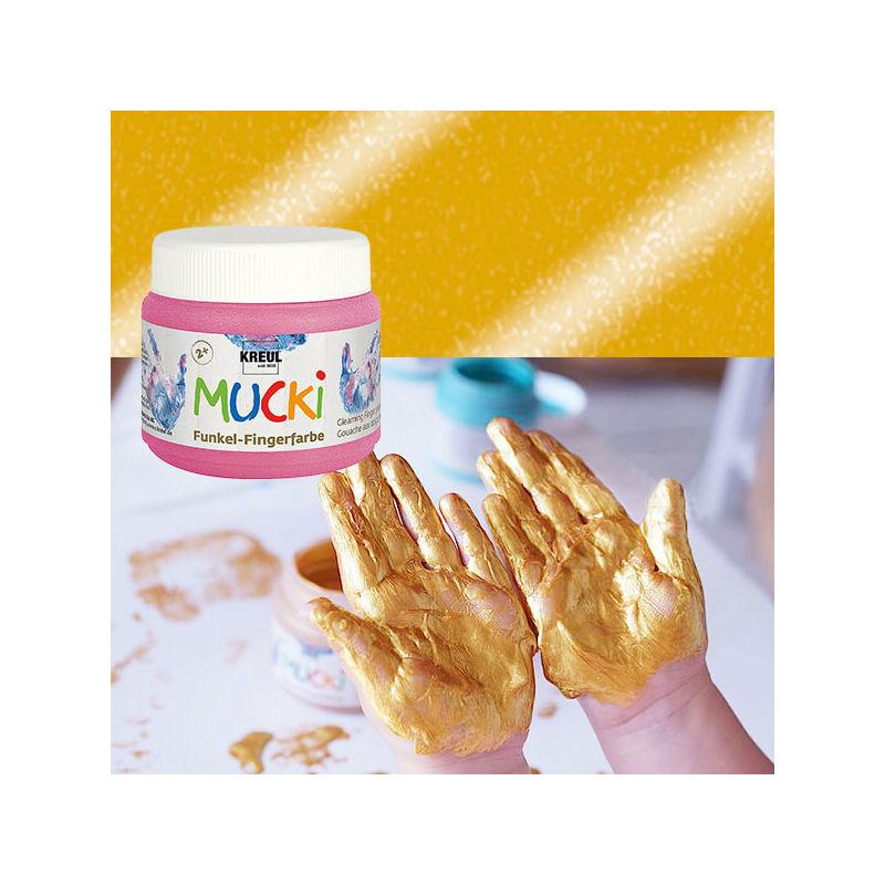 Ujjfesték, Mucki, 150 ml - gyöngyház arany
