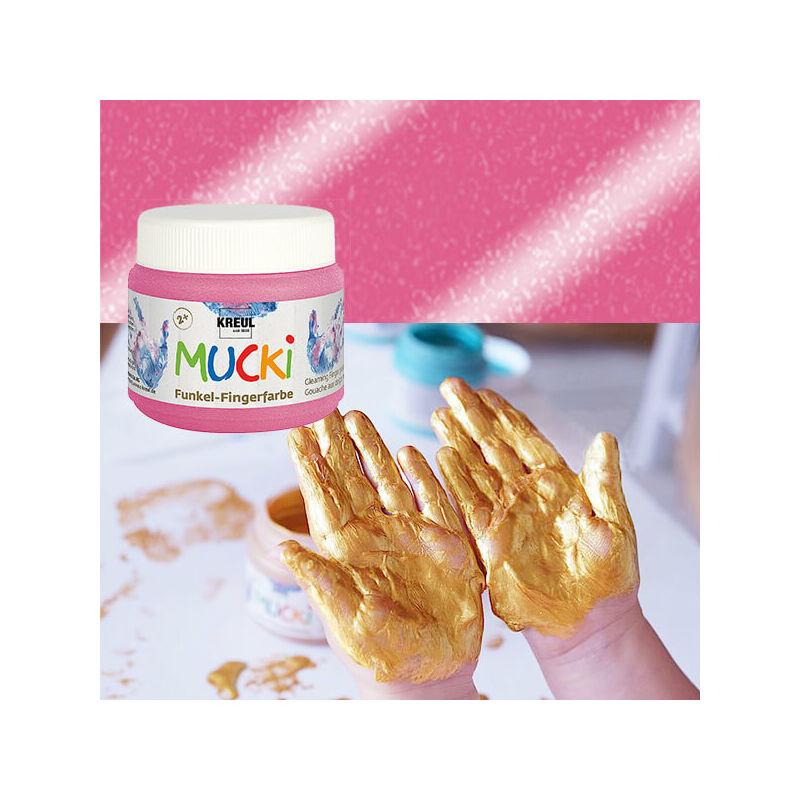 Ujjfesték, Mucki, 150 ml - gyöngyház rózsaszín