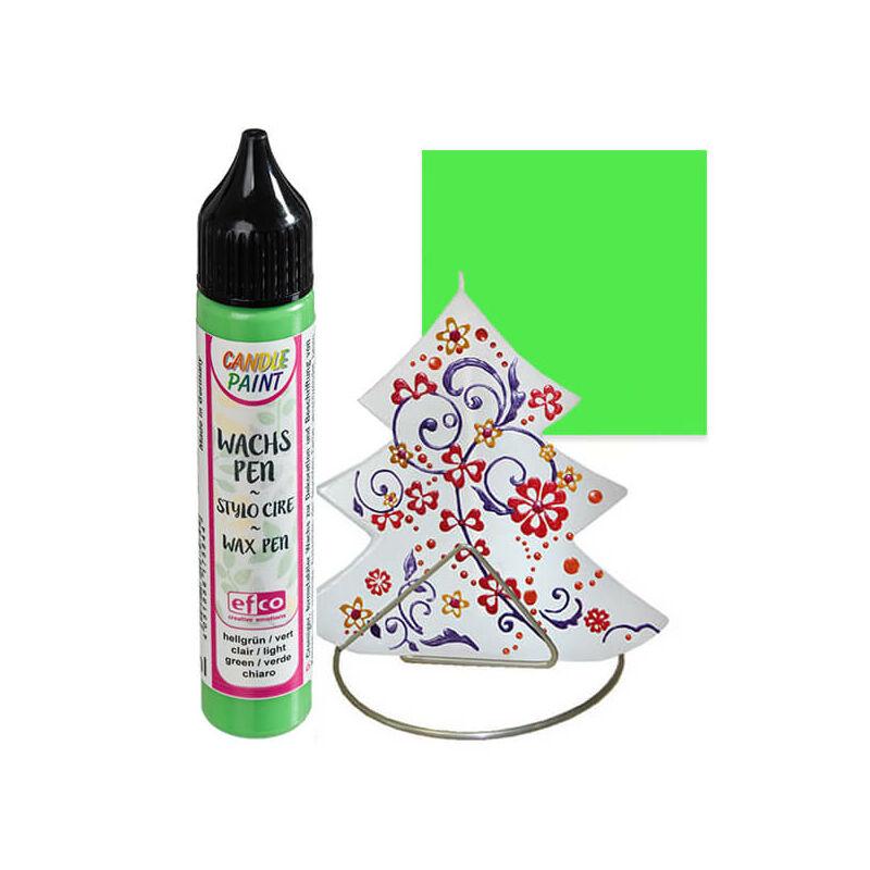 Candlepaint gyertyafestő toll, 28 ml - világoszöld