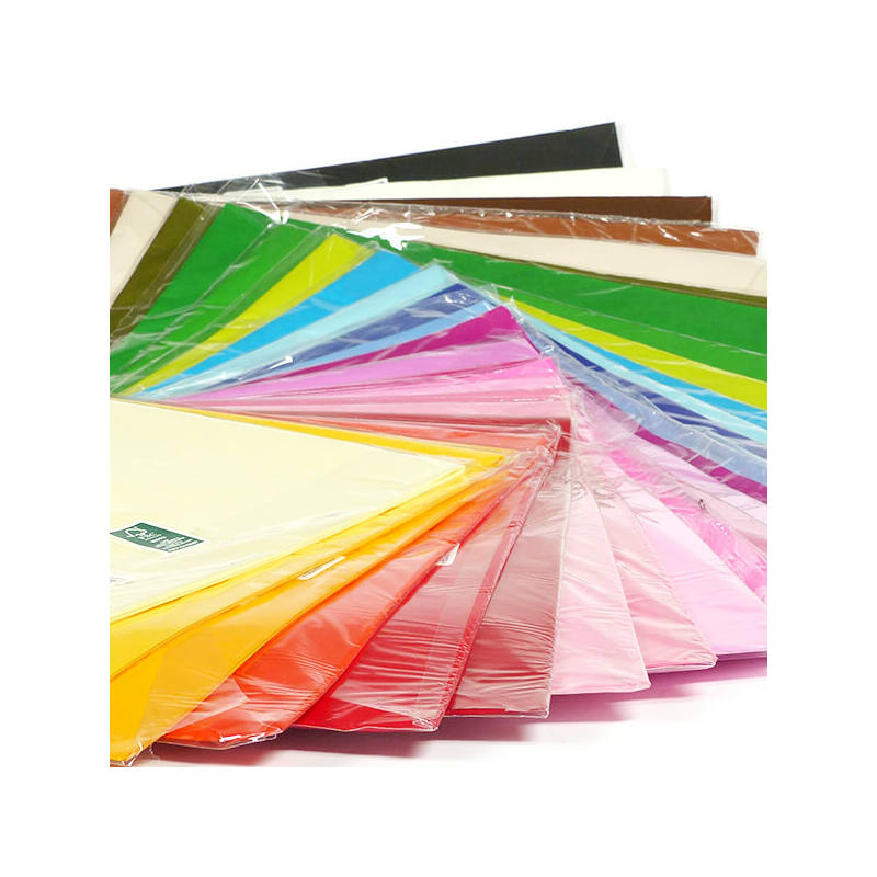 Selyempapír csomagban, 50x76 cm, 20 g, 24 db - vaniliasárga