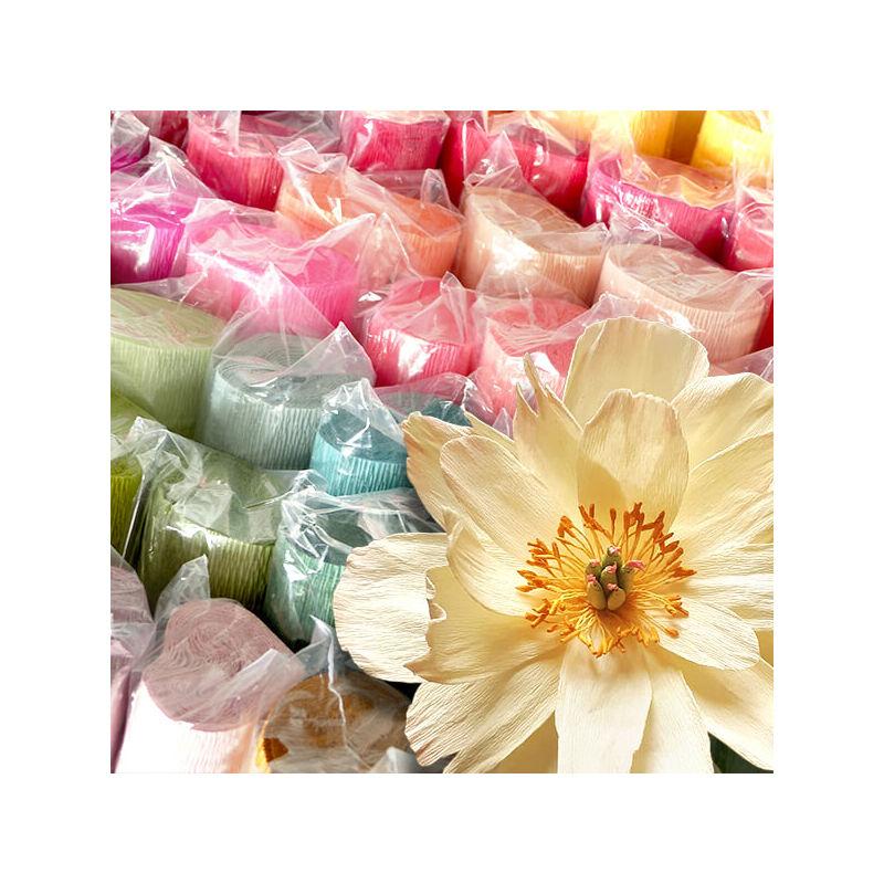 Virágkrepp-papír, 180 g, 50x250 cm - égkék